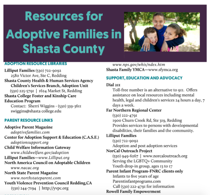 Shasta County Post Adoption Resource Guide