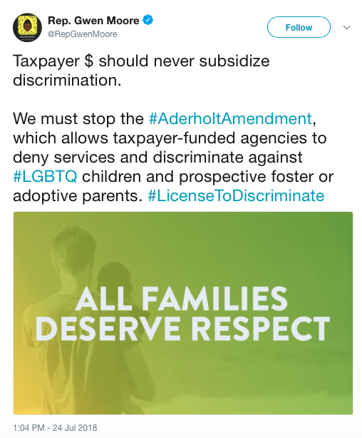 us taxpayers are subsidizing discrimination under the Aderholt Amendment